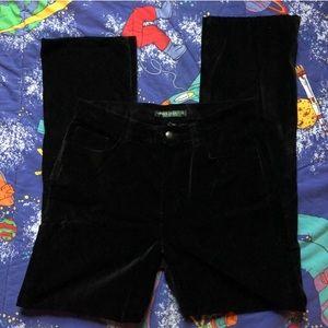Vintage Ralph Lauren Black Velvet Slim Cut Pants